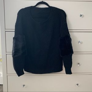 Boohoo fur sleeve sweater